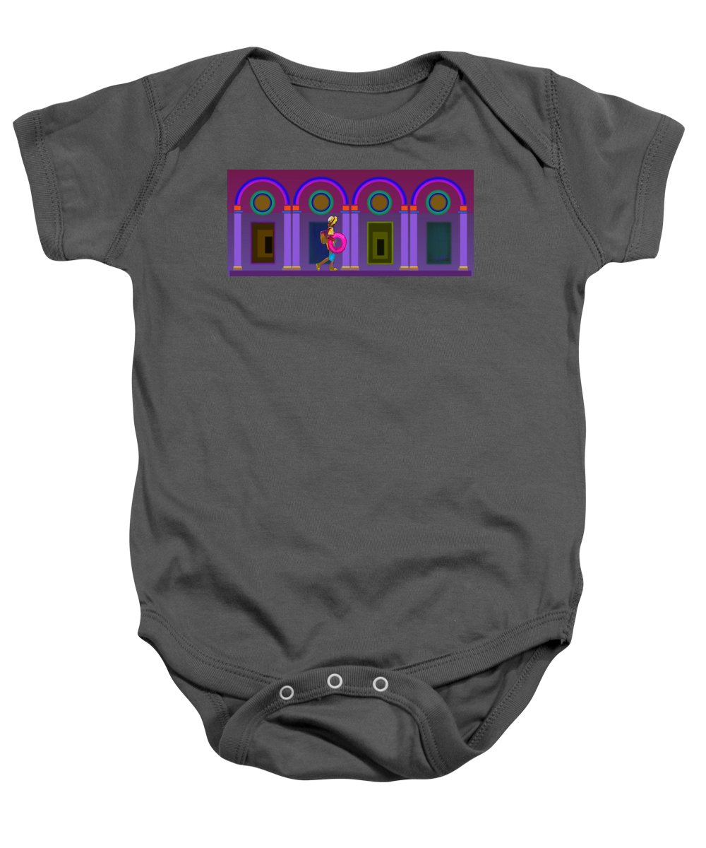 Classical Baby Onesie featuring the painting Roman Lavender by Charles Stuart