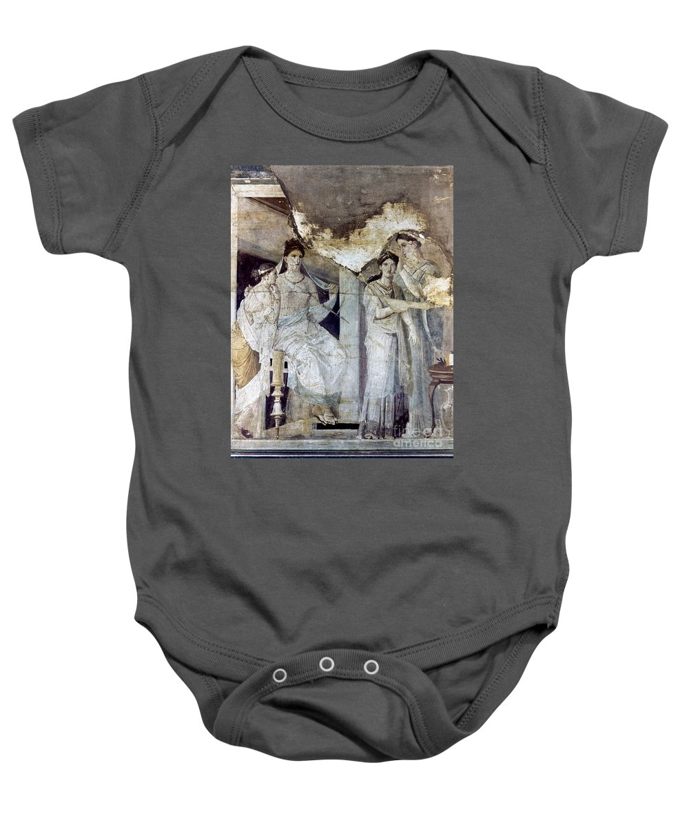 Ancient Baby Onesie featuring the photograph Roman Toilette Scene by Granger