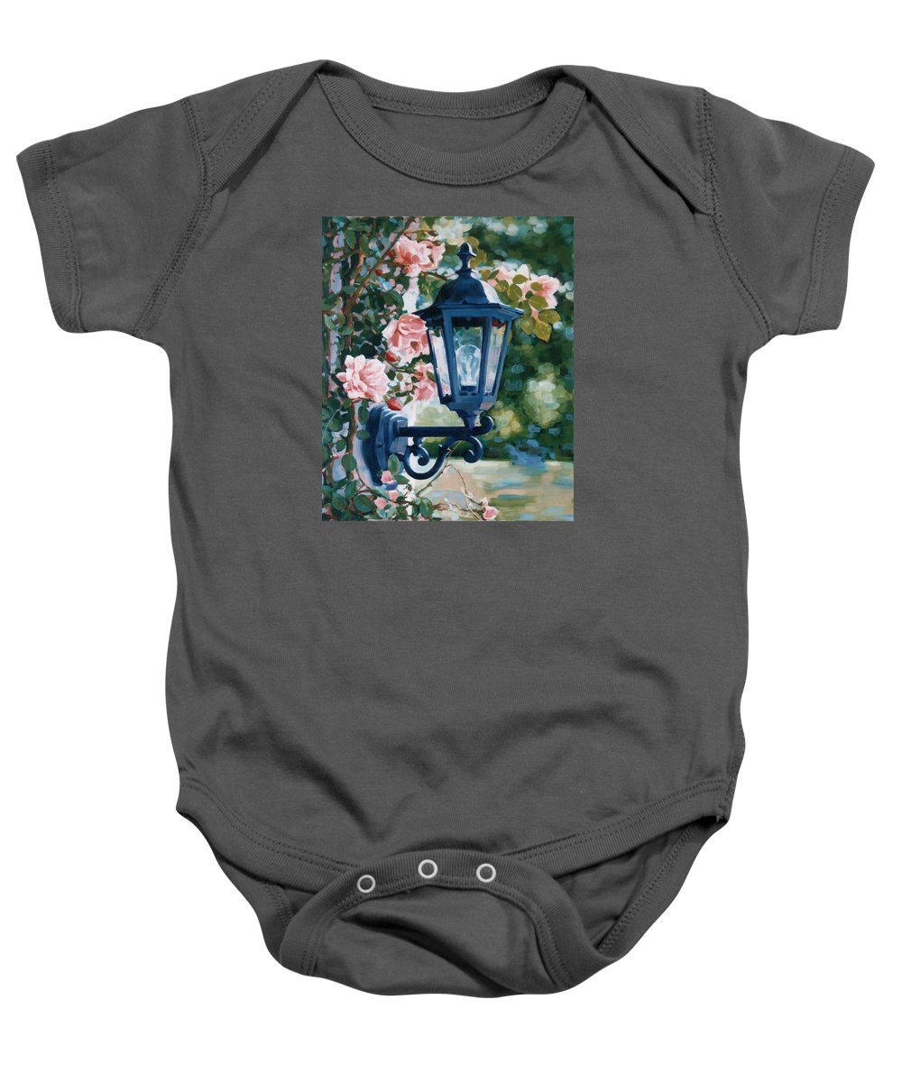 Roses Baby Onesie featuring the painting Romantic Fragrance by Iliyan Bozhanov