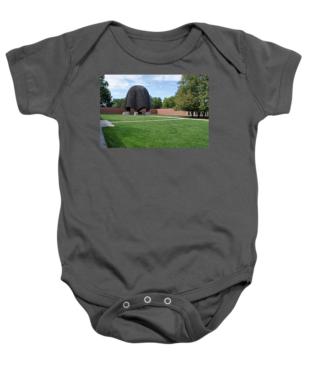 Church Baby Onesie featuring the photograph Roofless Church by Sandy Keeton