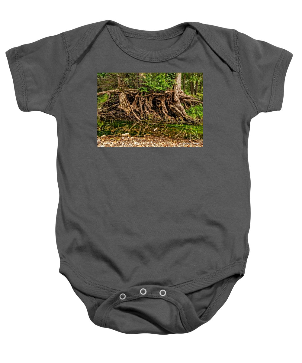 Trees Baby Onesie featuring the photograph Roots by Christopher Holmes