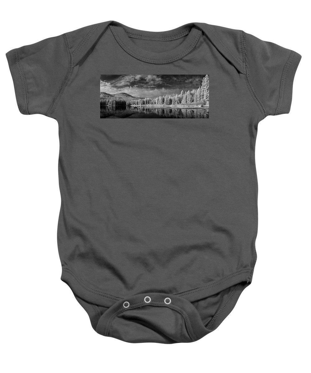 B&w Baby Onesie featuring the photograph Round Lake State Park 2 by Lee Santa