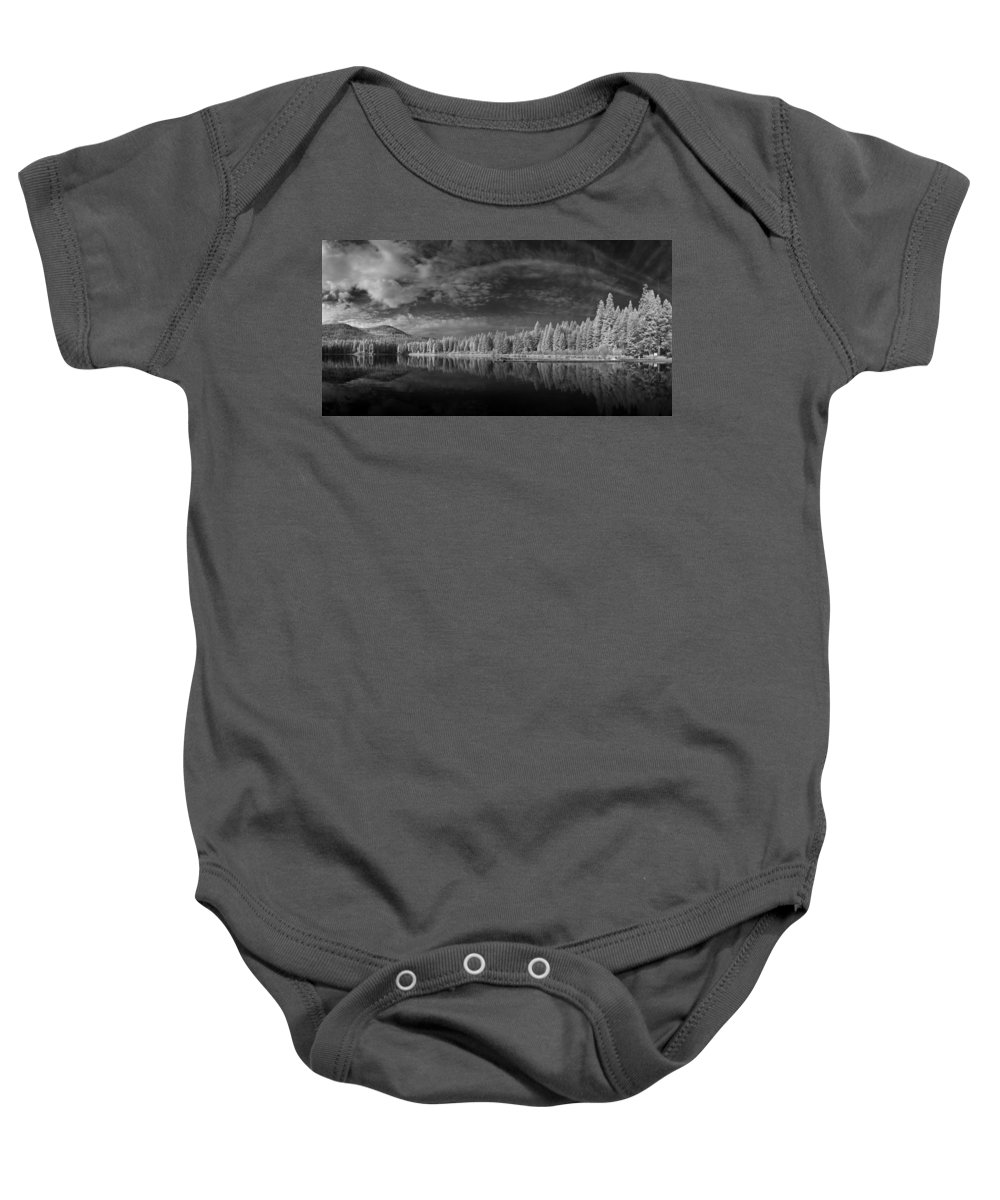 B&w Baby Onesie featuring the photograph Round Lake State Park 5 by Lee Santa