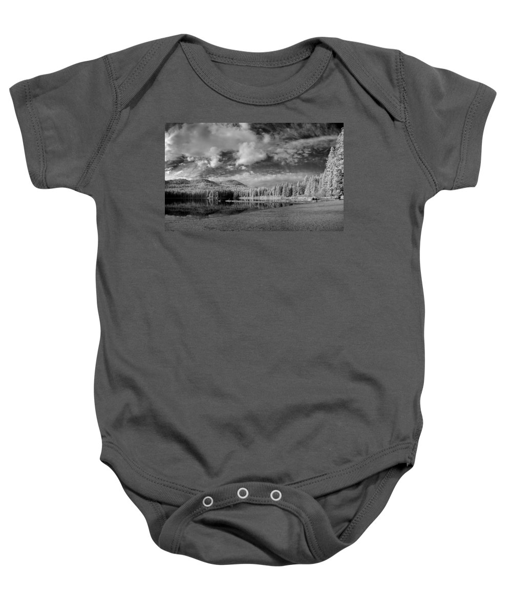 B&w Baby Onesie featuring the photograph Round Lake State Park 6 by Lee Santa