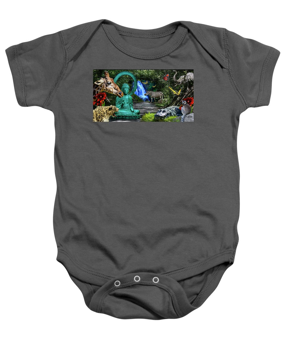 Rousseau Baby Onesie featuring the photograph Rousseau's Garden by Dan Earle