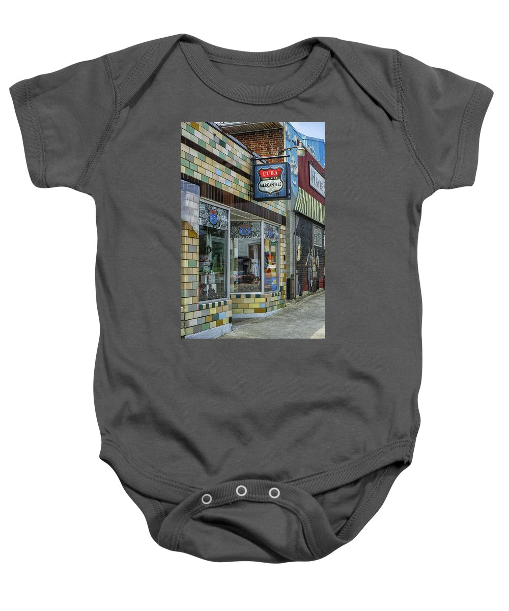 Missouri Baby Onesie featuring the photograph Route 66 Mercantile Cuba Mo Dsc05597 by Greg Kluempers
