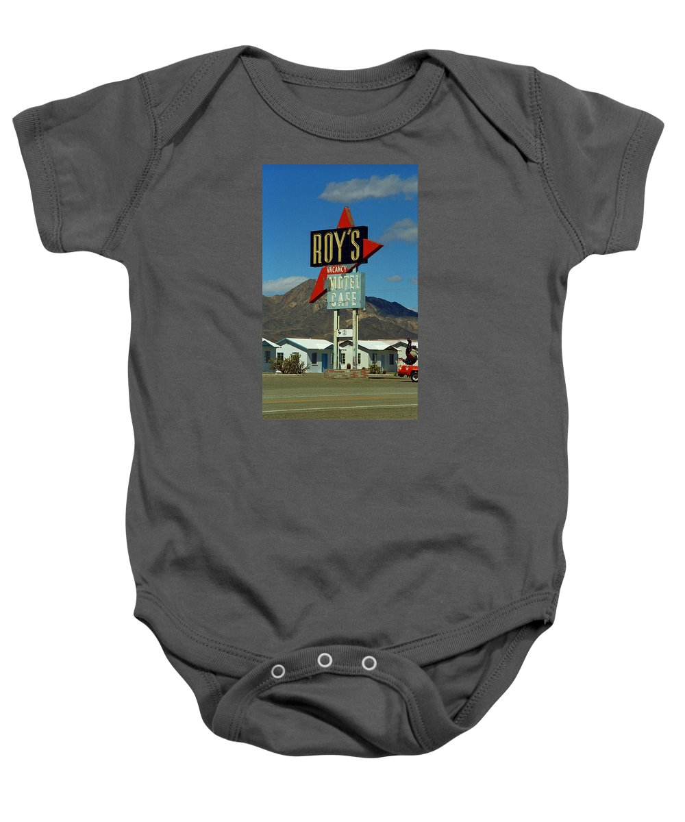 66 Baby Onesie featuring the photograph Route 66 - Roy's Of Amboy California 2 by Frank Romeo