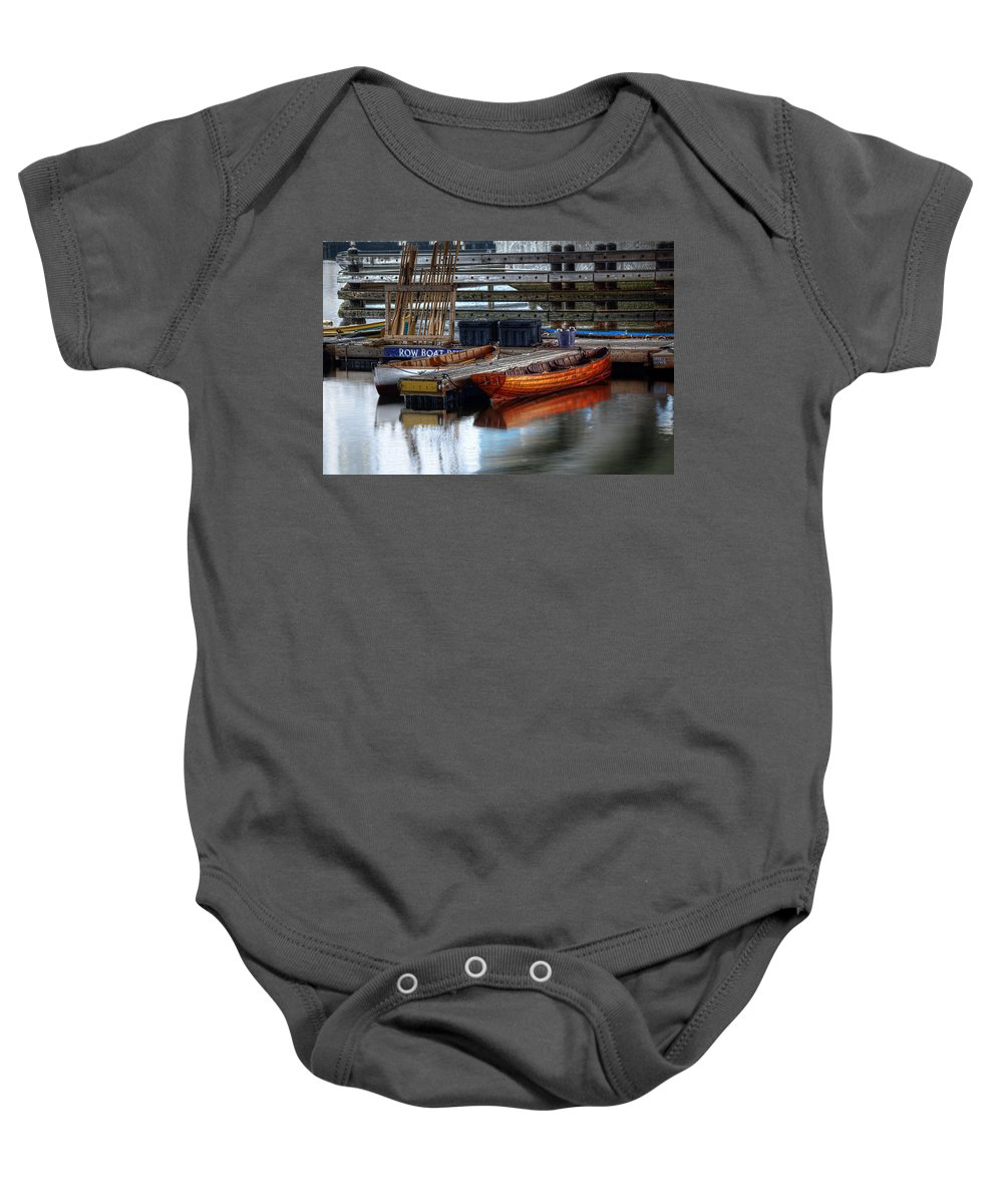 Row Baby Onesie featuring the photograph Row Boat Rental by Rick Mosher