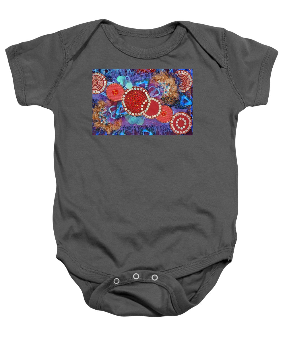 Baby Onesie featuring the mixed media Ruby Slippers 1 by Judy Henninger