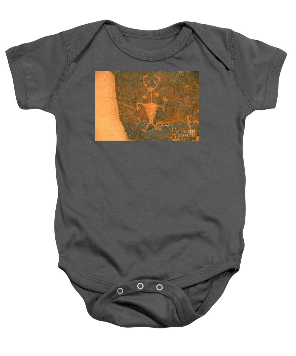 Running Baby Onesie featuring the photograph Running Man by David Lee Thompson