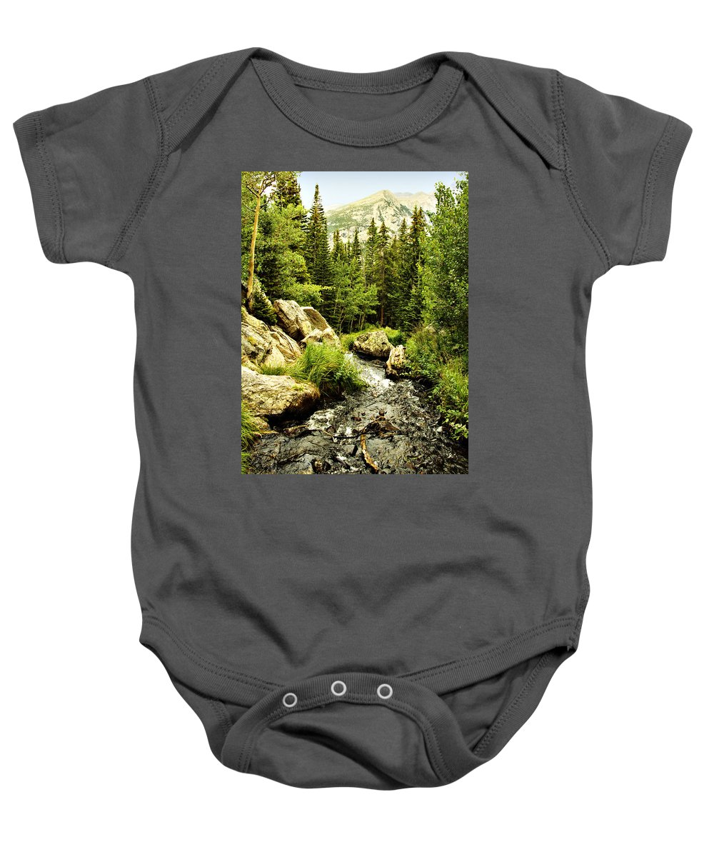 Colorado Baby Onesie featuring the photograph Running River by Marilyn Hunt
