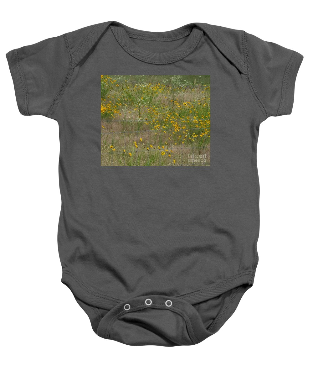Flowers Baby Onesie featuring the photograph Rural Arkansas Road View by Lizi Beard-Ward