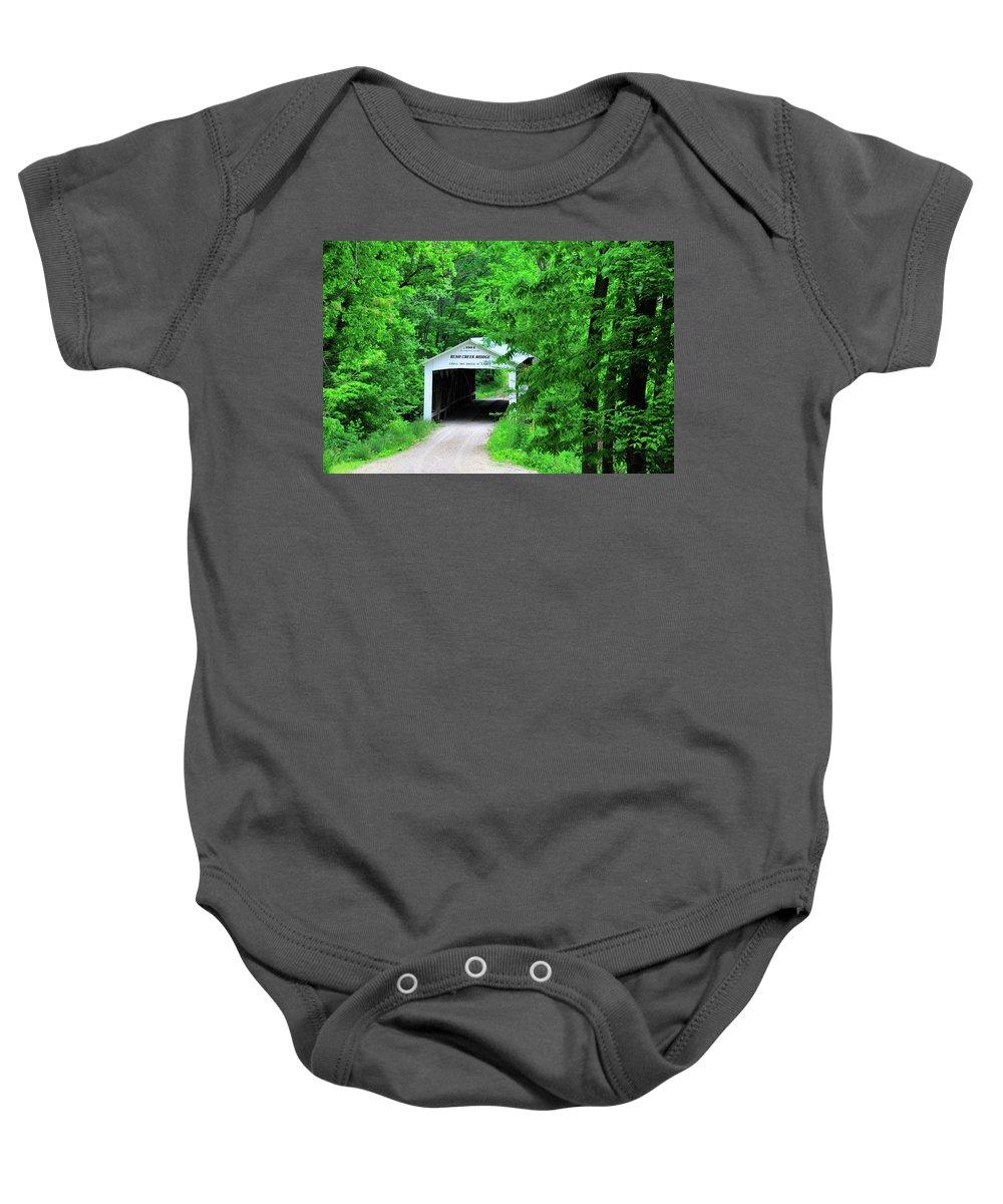 Bridge Baby Onesie featuring the photograph Rush Creek by David Arment