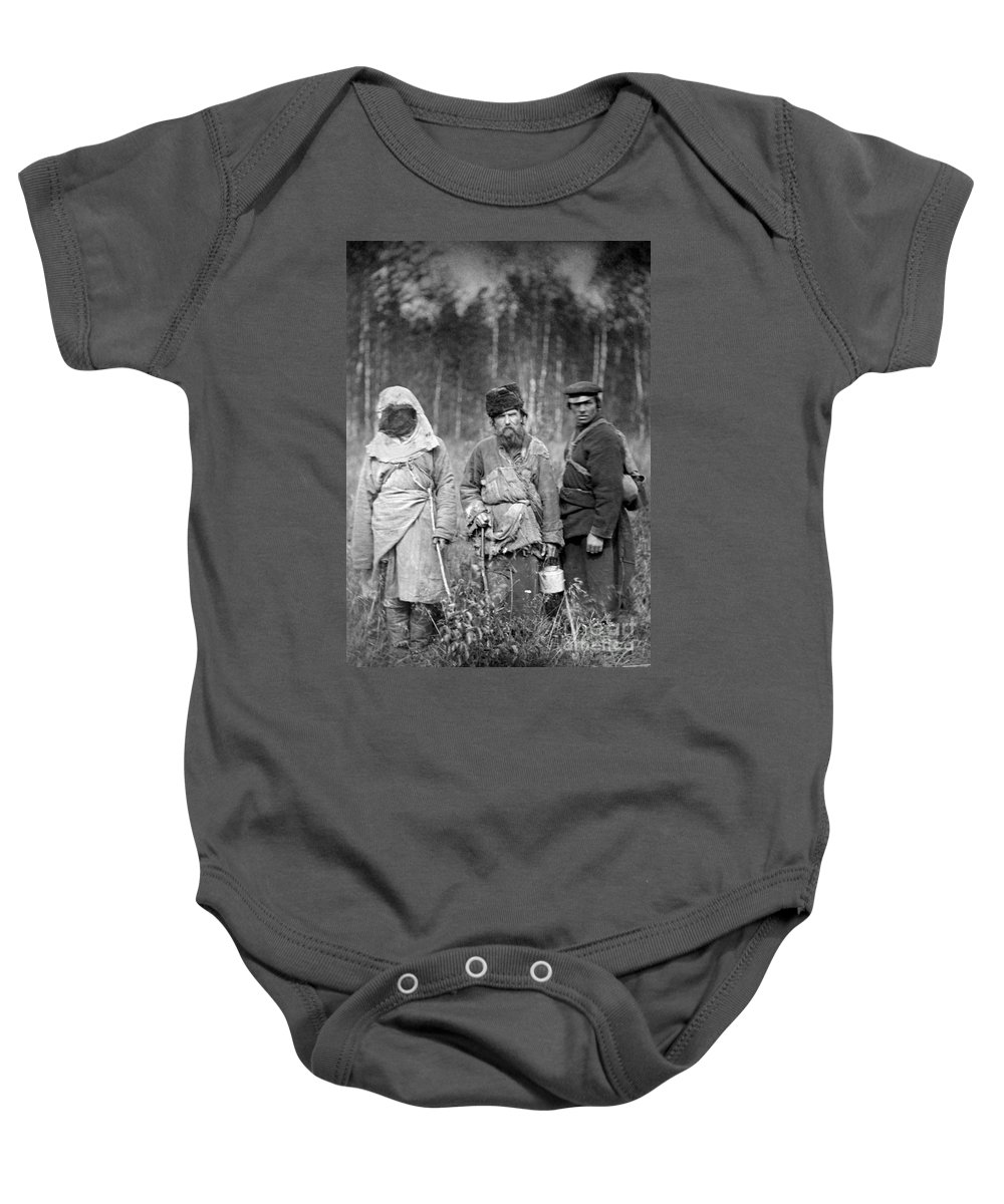 1885 Baby Onesie featuring the photograph Russia: Convicts, C1885 by Granger