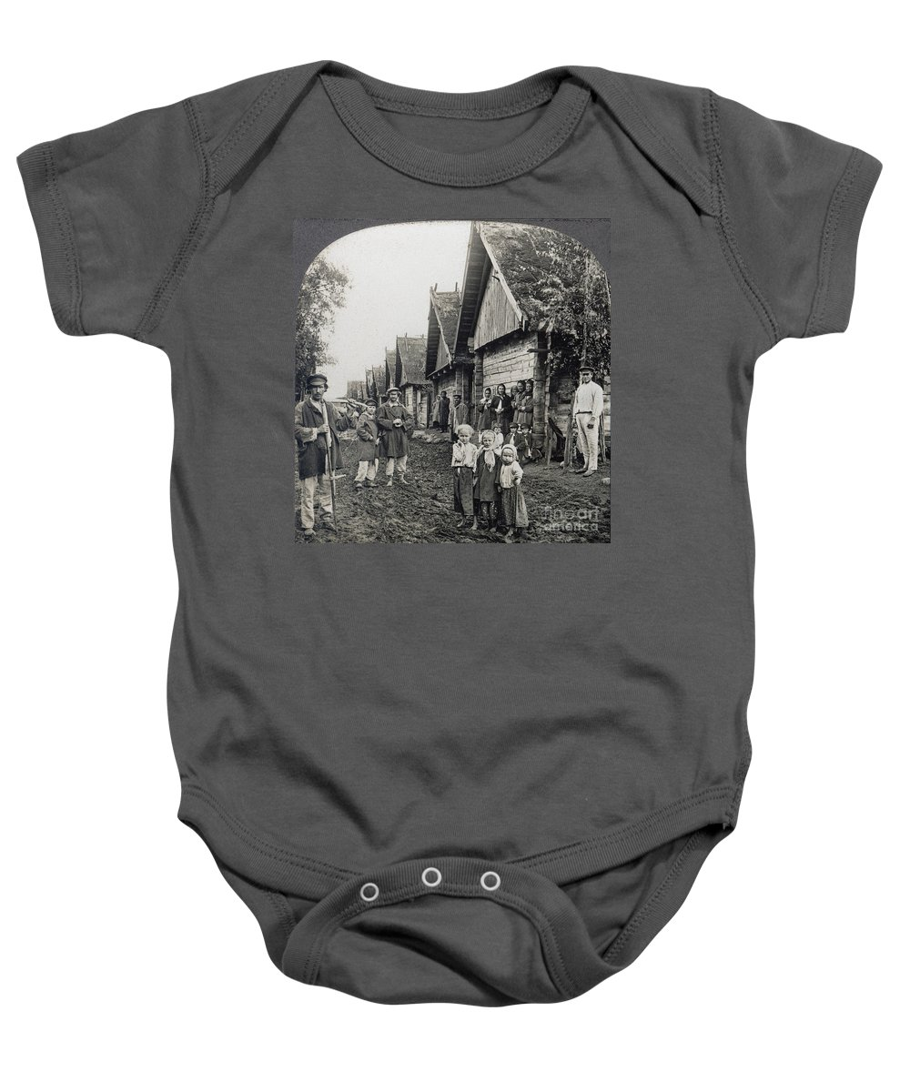 1900 Baby Onesie featuring the photograph Russia: Peasants by Granger