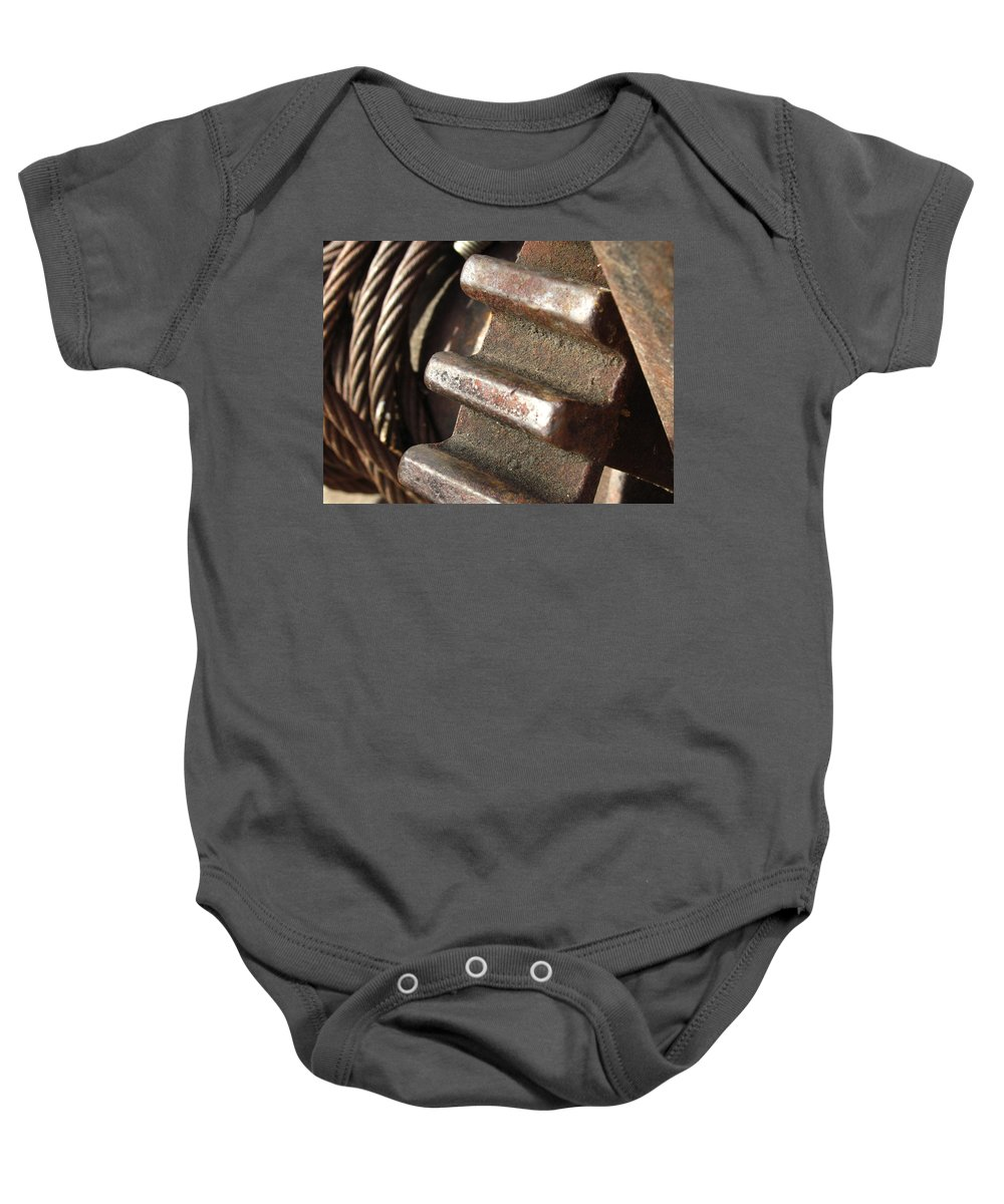 Antique Baby Onesie featuring the photograph Rusted by Nic Taylor