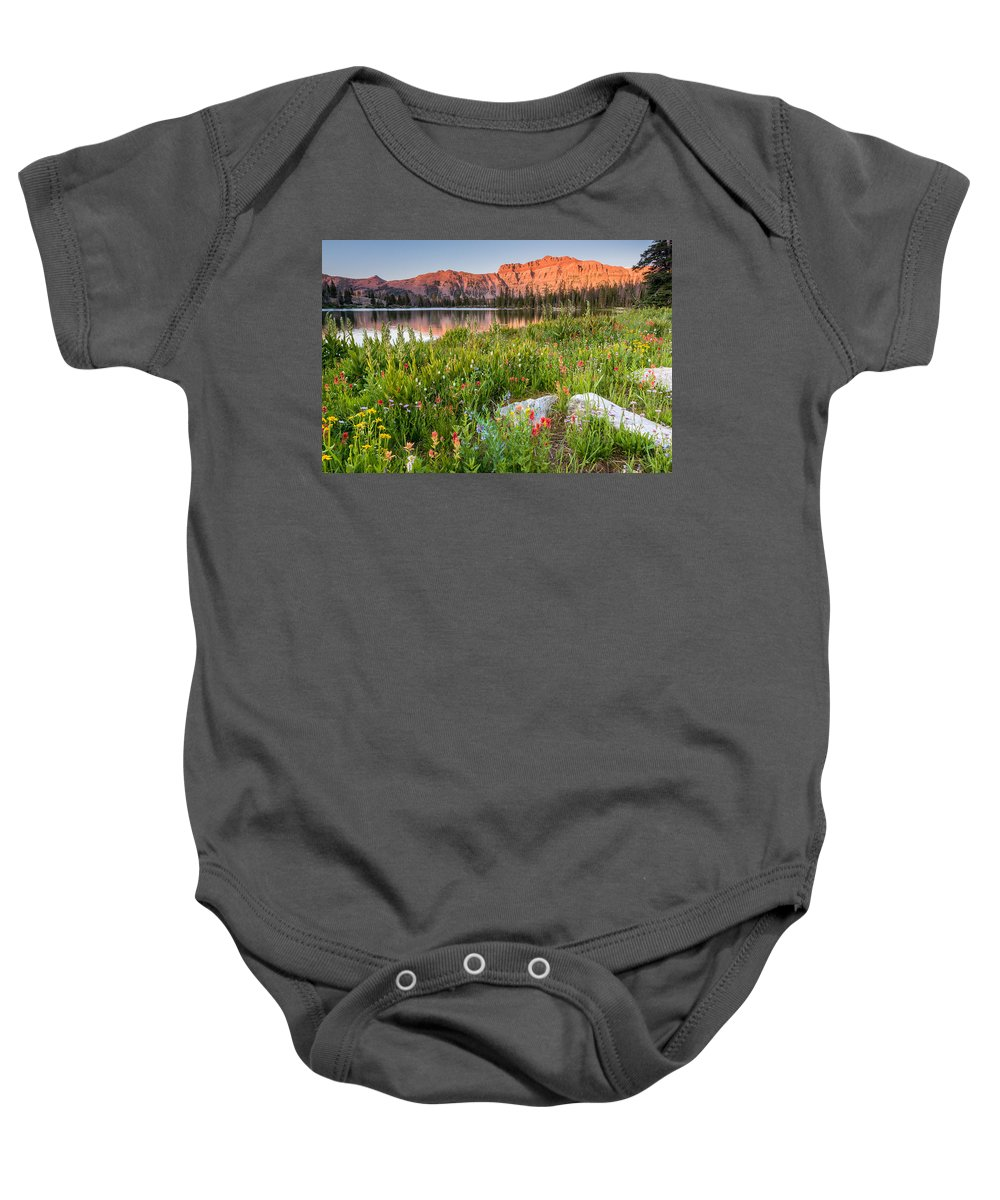 Trailsxposed Baby Onesie featuring the photograph Ruth Lake Wild Flowers by Gina Herbert