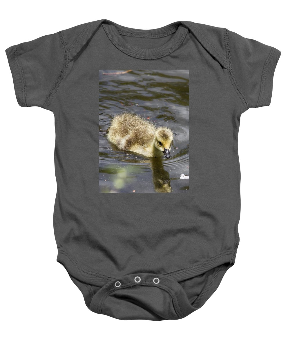 Goose Baby Onesie featuring the photograph Ryan Gosling by John Haldane