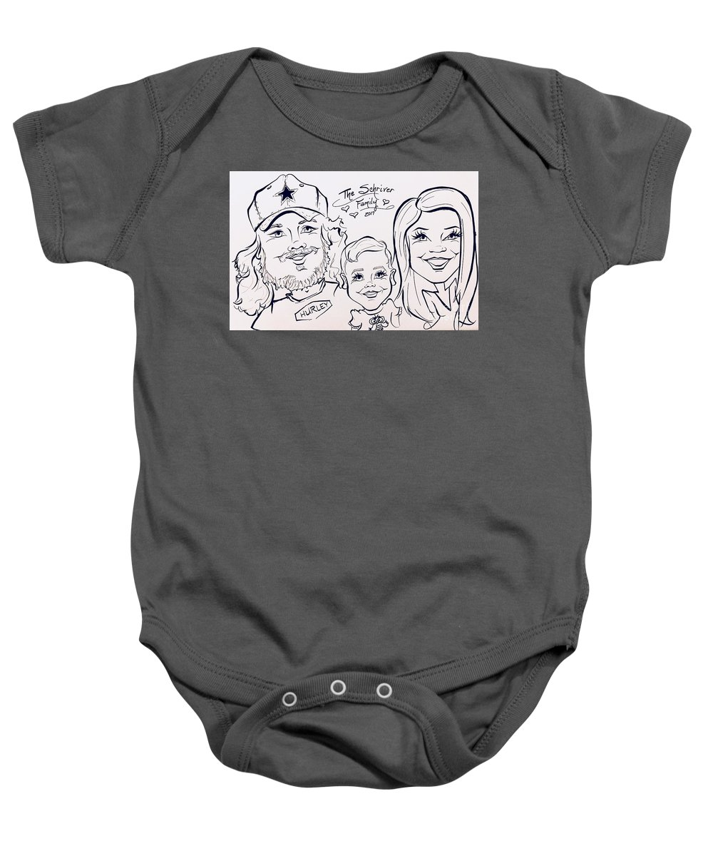 Baby Onesie featuring the painting S by Sally Huhta