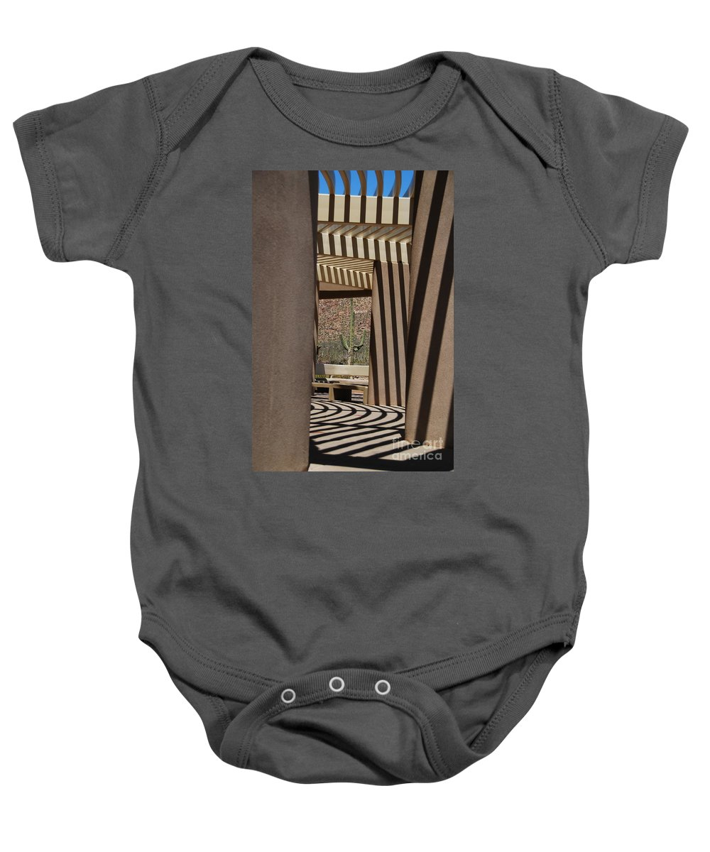 Architecture Baby Onesie featuring the photograph Saguaro National Park by Lois Bryan