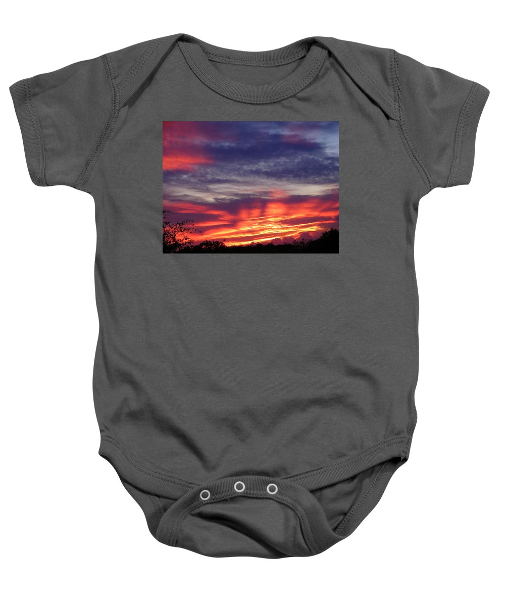 Sunset Baby Onesie featuring the photograph Sailor's Delight by Gale Cochran-Smith