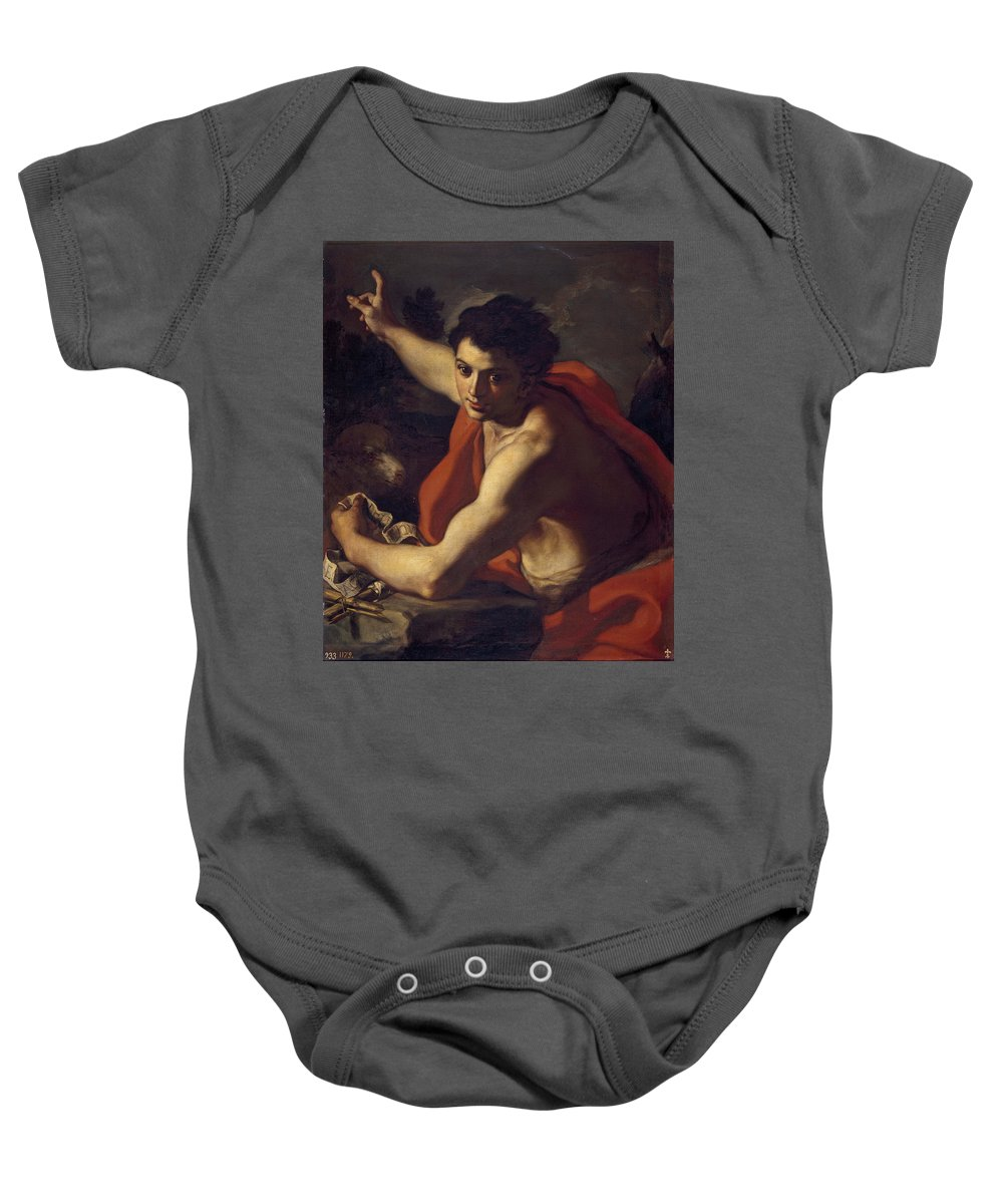 Francesco Solimena Baby Onesie featuring the painting Saint John The Baptist by Francesco Solimena