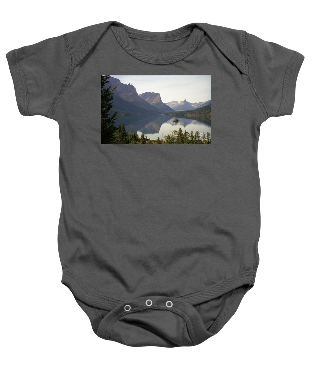 Lake Baby Onesie featuring the photograph Saint Marys Lake by Richard Rizzo