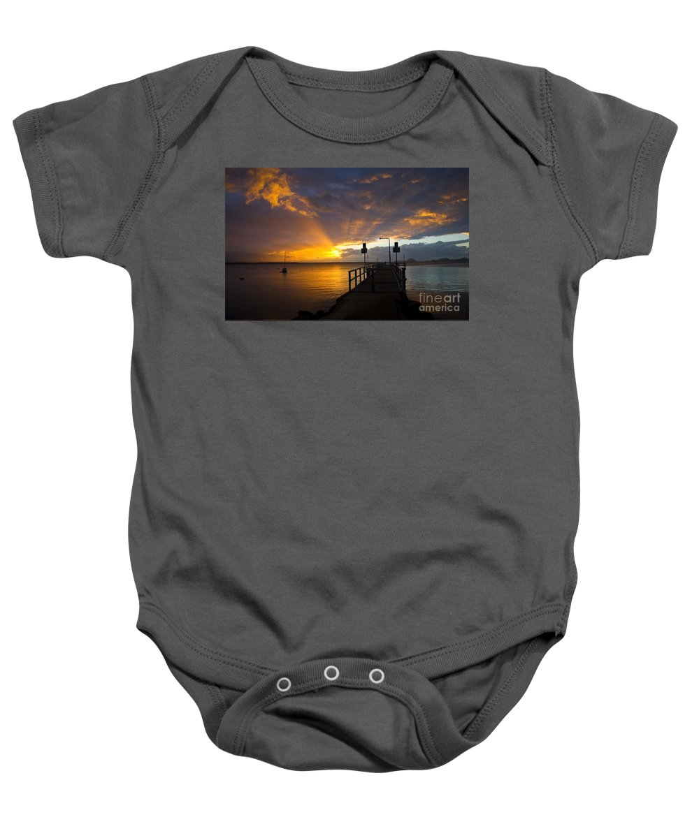 Sunrise Baby Onesie featuring the photograph Salamander Bay Sunrise by Sheila Smart Fine Art Photography