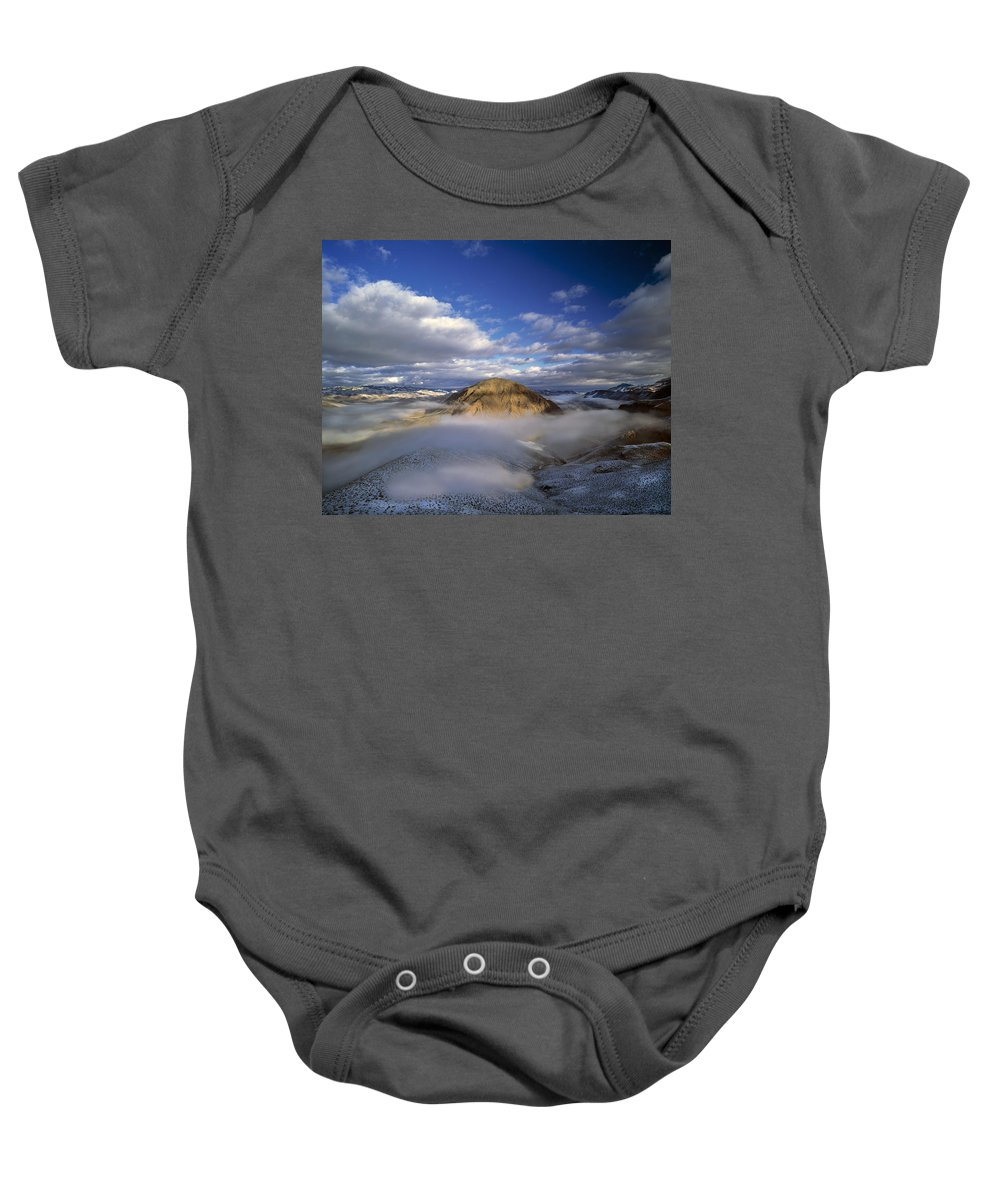 Salmon River Mountains Baby Onesie featuring the photograph Salmon River Mountains by Leland D Howard