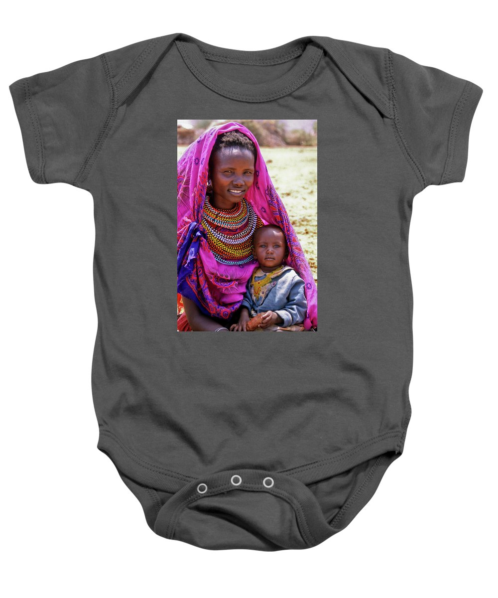 Africa Baby Onesie featuring the photograph Samburu Madonna by Michele Burgess