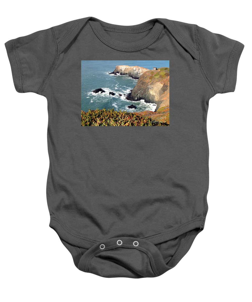 San Francisco Baby Onesie featuring the photograph Marin Headlands Bunker by Norman Andrus