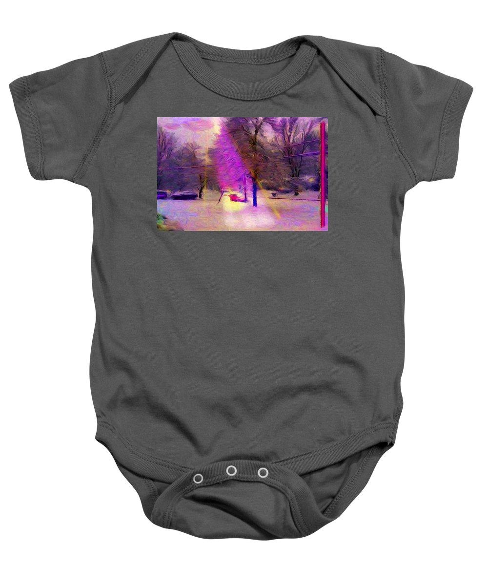Fantastic Baby Onesie featuring the digital art Sandburg Drive by Caito Junqueira