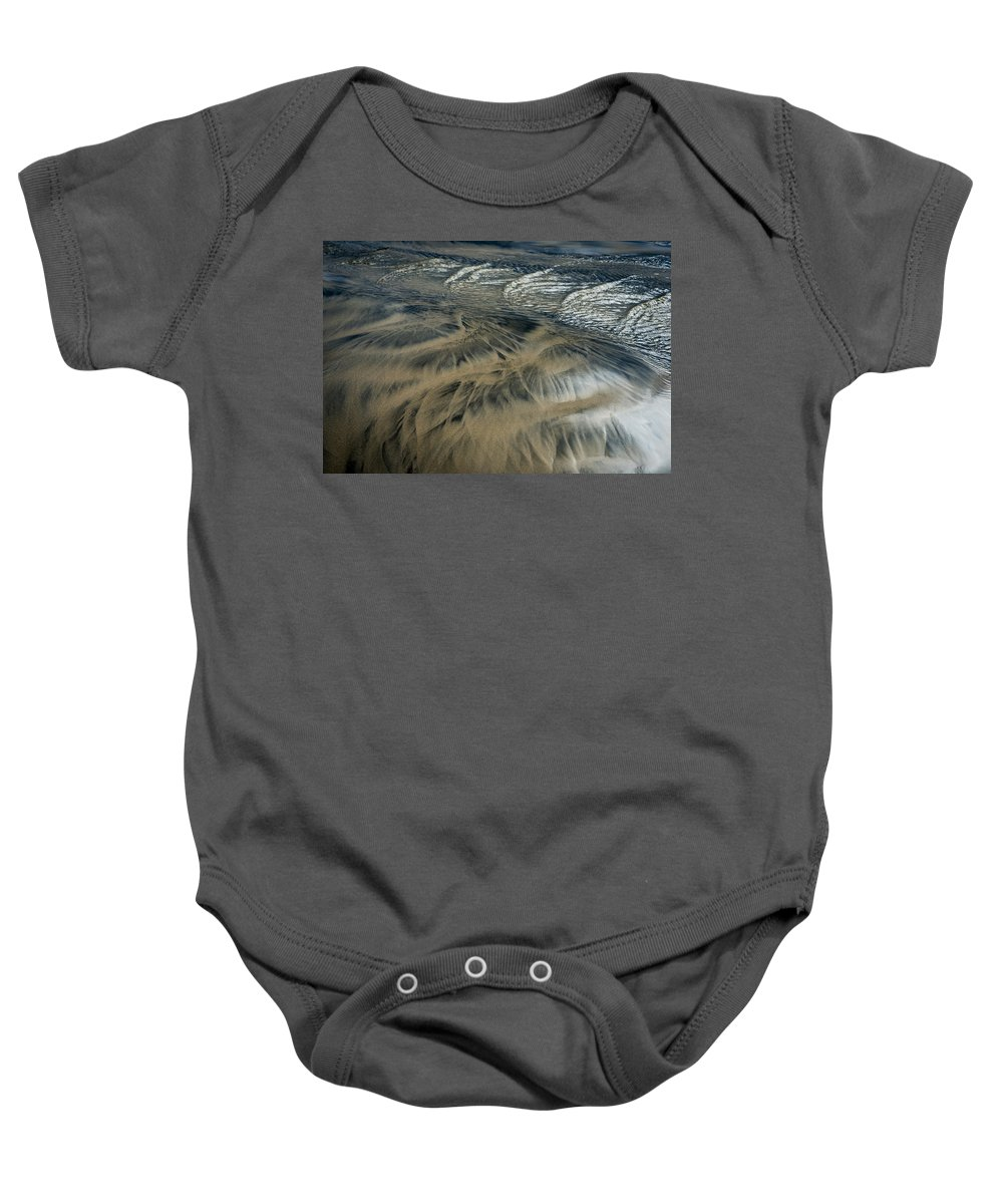 Abstracts Baby Onesie featuring the photograph Sands Of Time by Robert Potts
