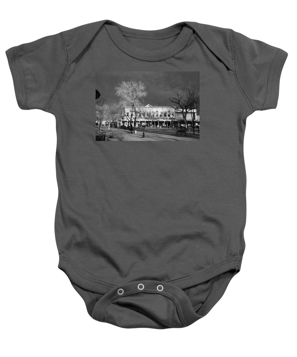 Santa Fe Baby Onesie featuring the photograph Santa Fe Town Square by Rob Hans