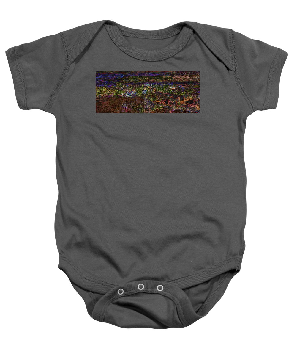 Ranch Baby Onesie featuring the painting Santa Rosa In Blacklight by Will Barger