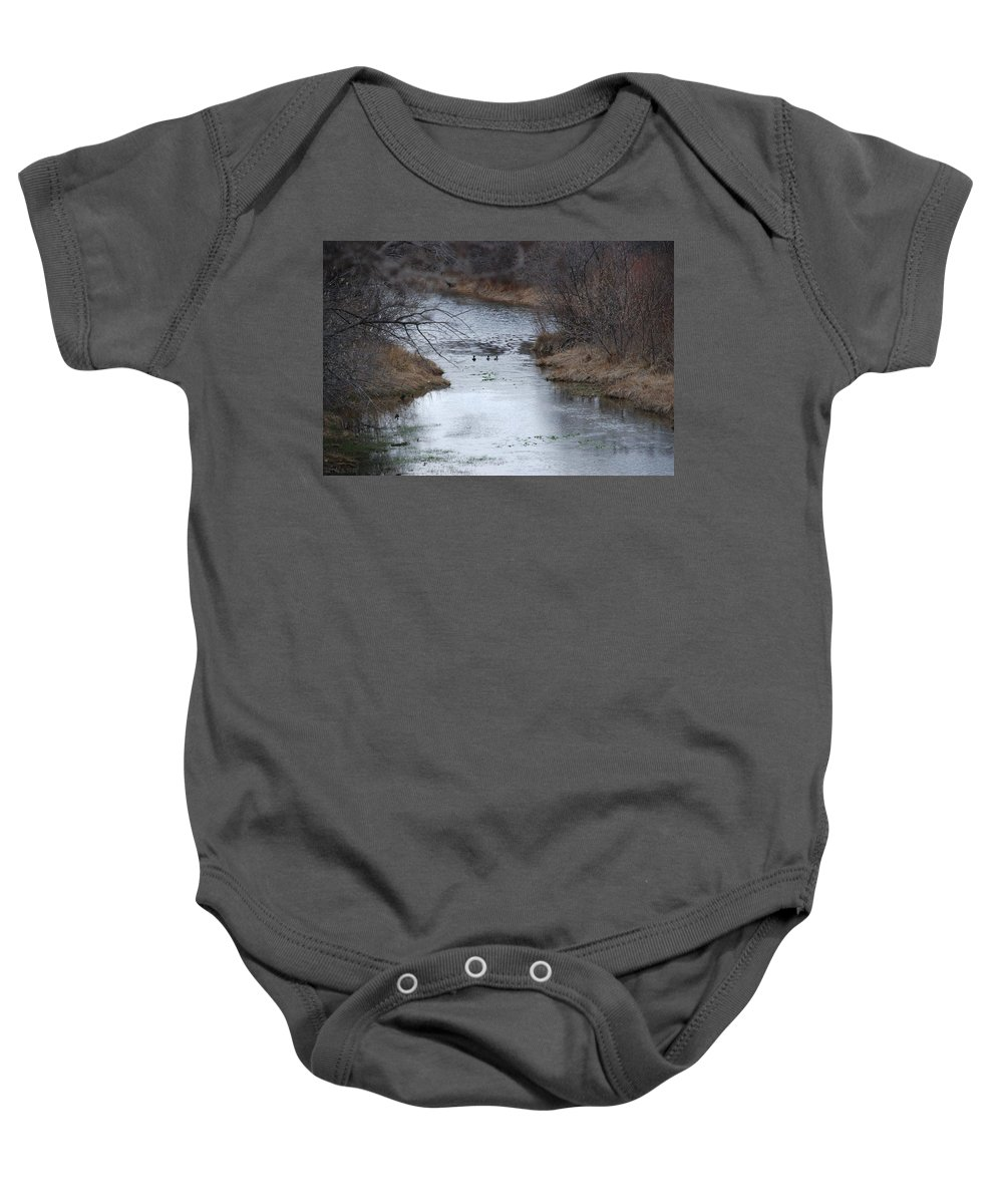 Birds Baby Onesie featuring the photograph Sante Fe River by Rob Hans
