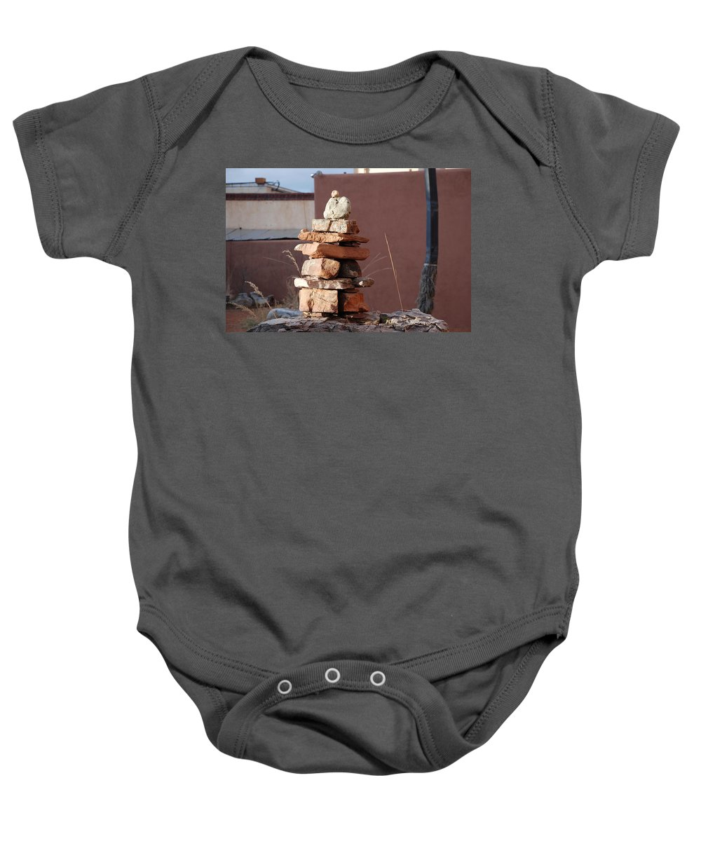 Pop Art Baby Onesie featuring the photograph Sante Fe Rocks by Rob Hans