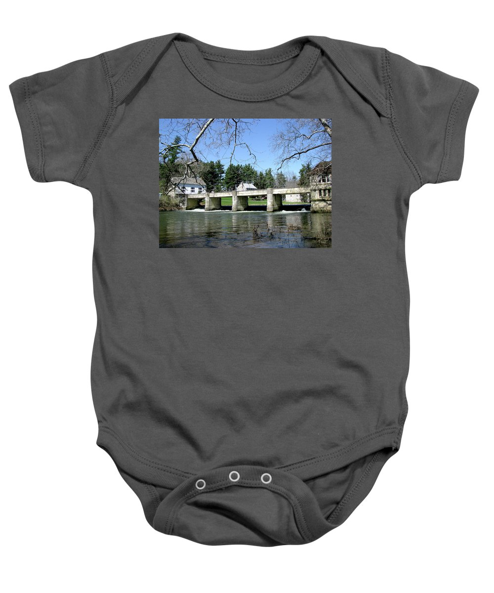 Bridge Baby Onesie featuring the photograph Scenic Day by Donna Brown