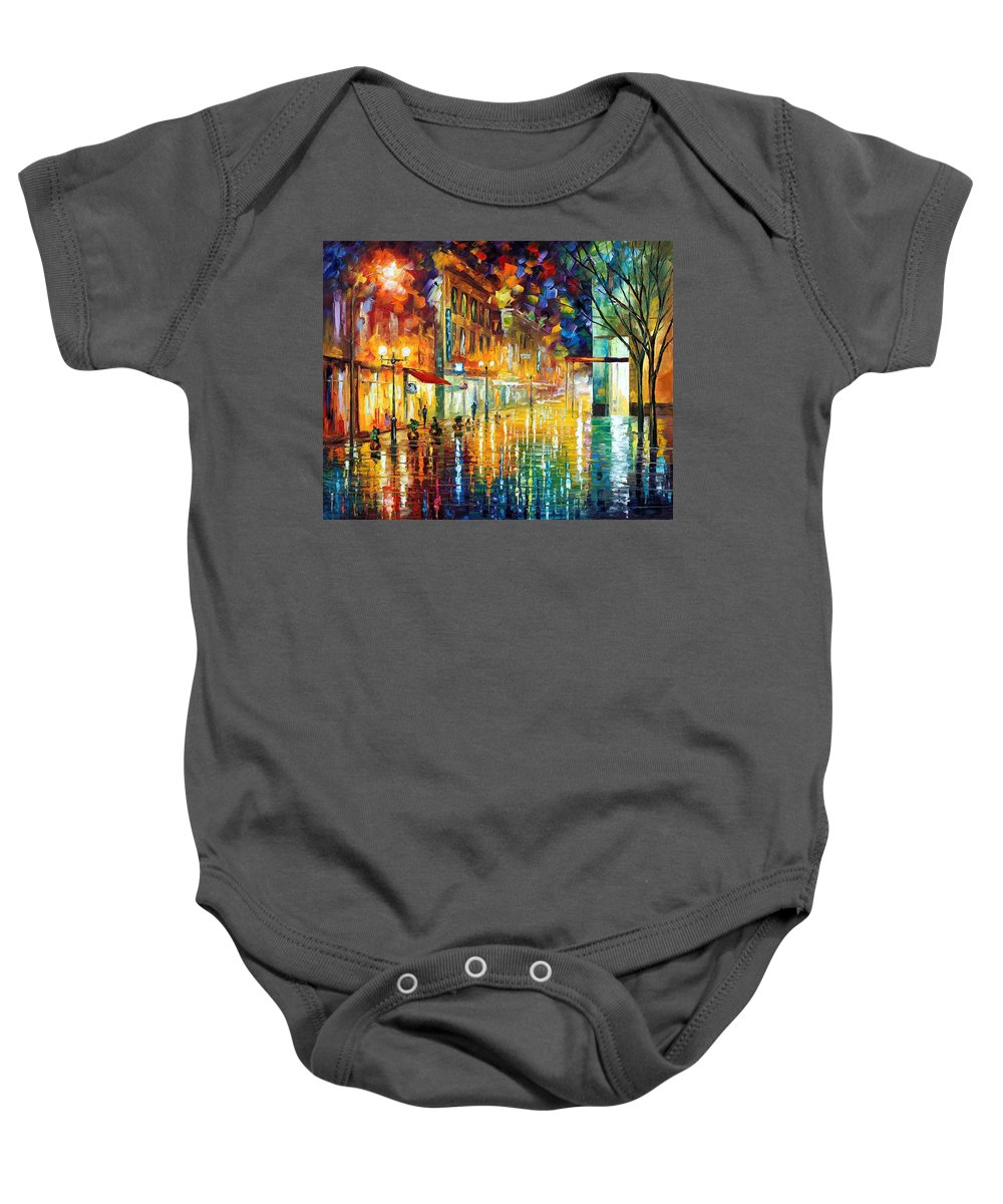 Afremov Baby Onesie featuring the painting Scent Of Rain by Leonid Afremov