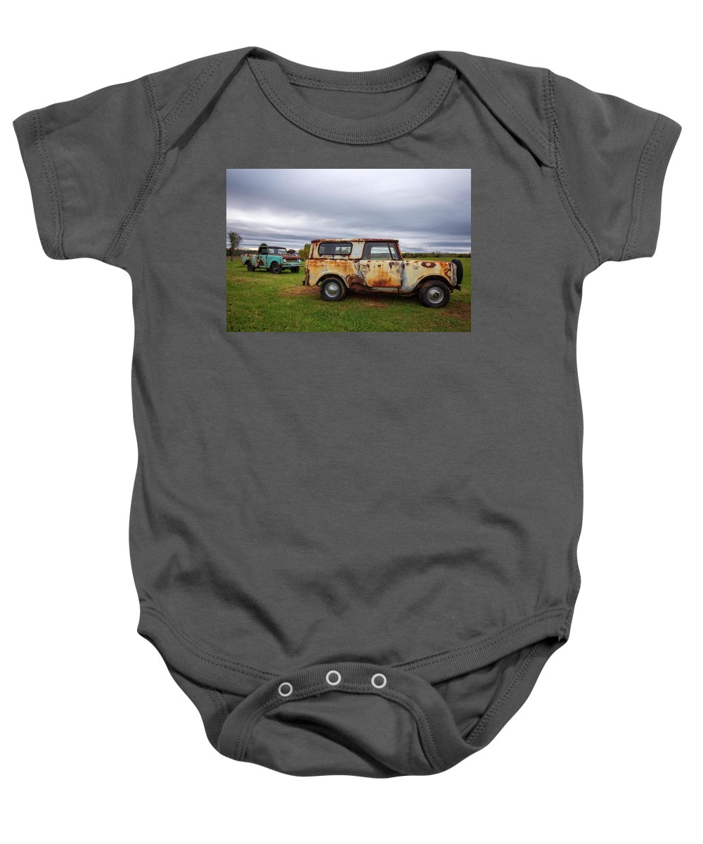 International Baby Onesie featuring the photograph Scouts And Sky by Alan Raasch