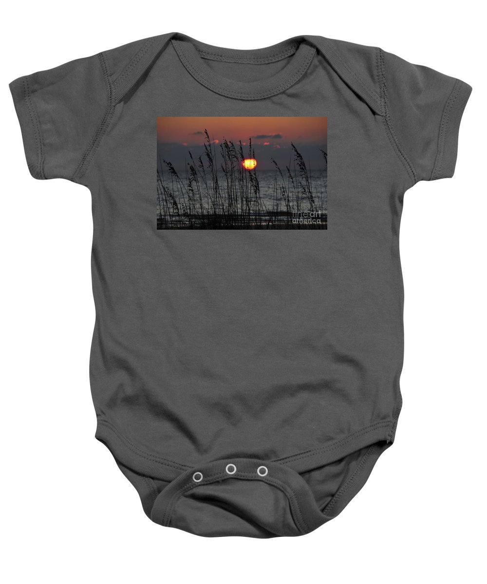 Sea Oats Baby Onesie featuring the photograph Sea Oats by David Lee Thompson
