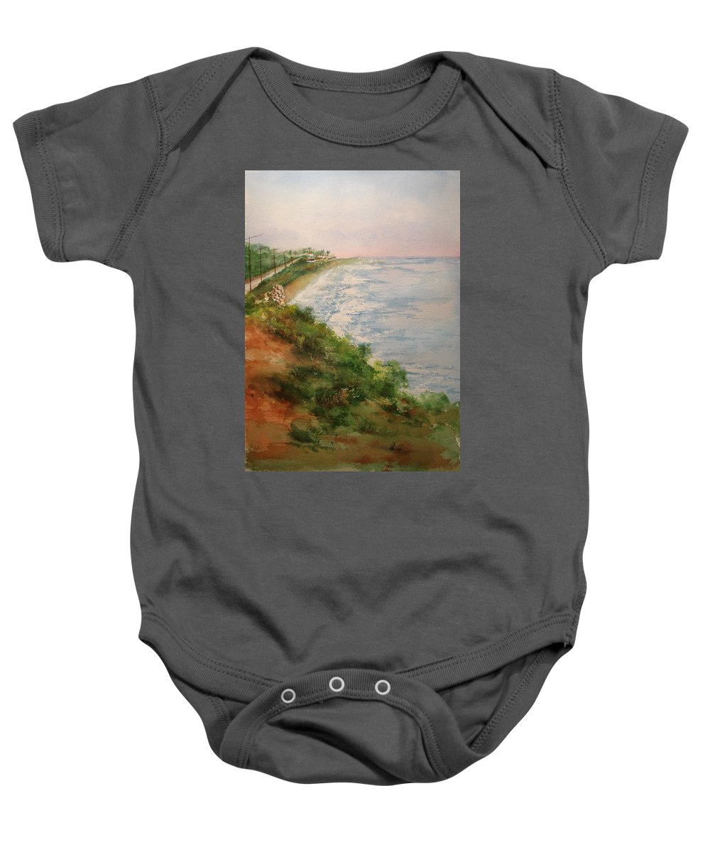 Landscape Baby Onesie featuring the painting Sea of Dreams by Debbie Lewis