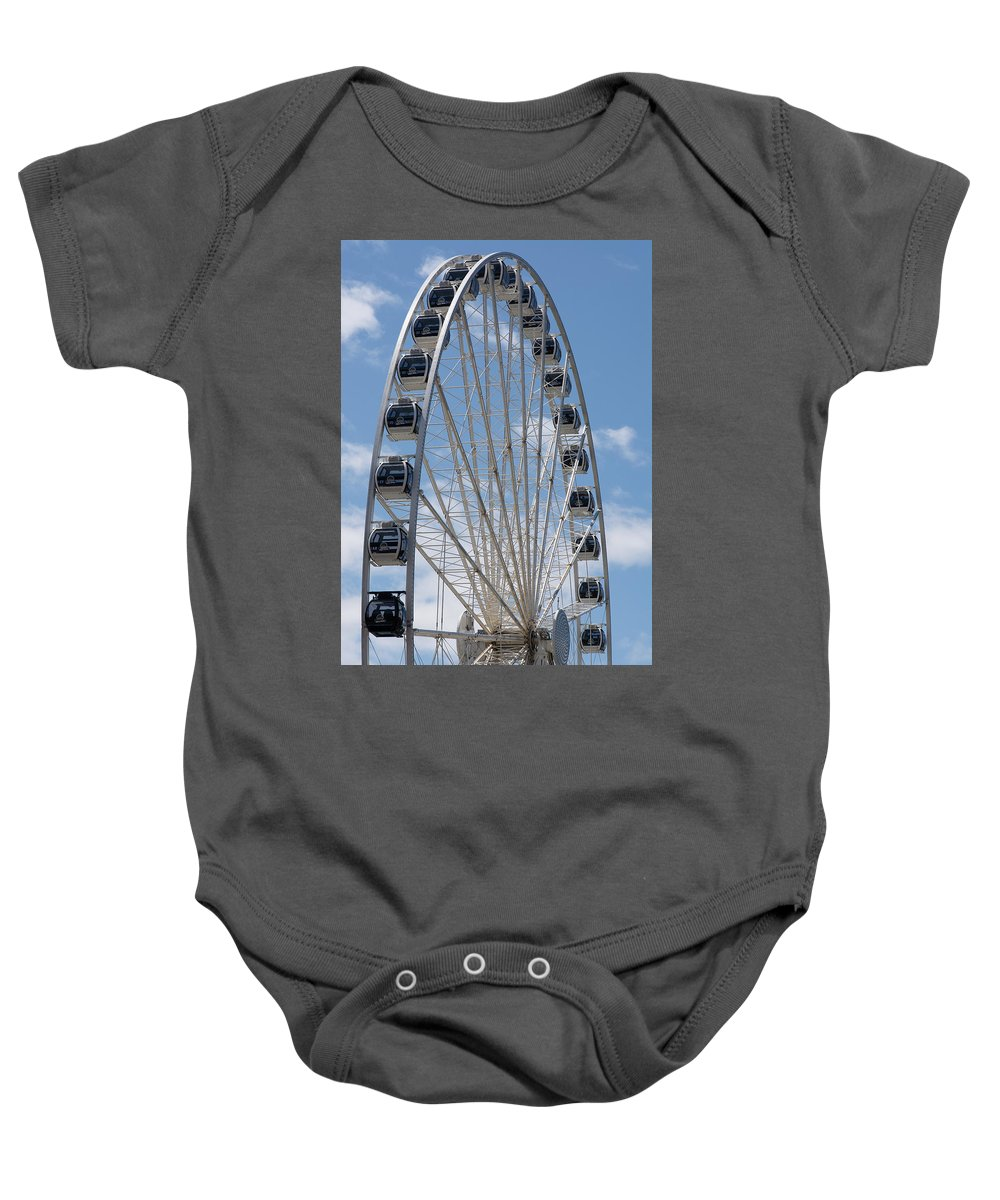 Seattle Baby Onesie featuring the photograph Seattle Great Wheel by Robert Briggs