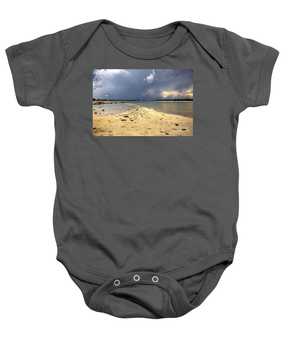 Photographs Baby Onesie featuring the photograph Sebastian Inlet After Storm by Felix Lai