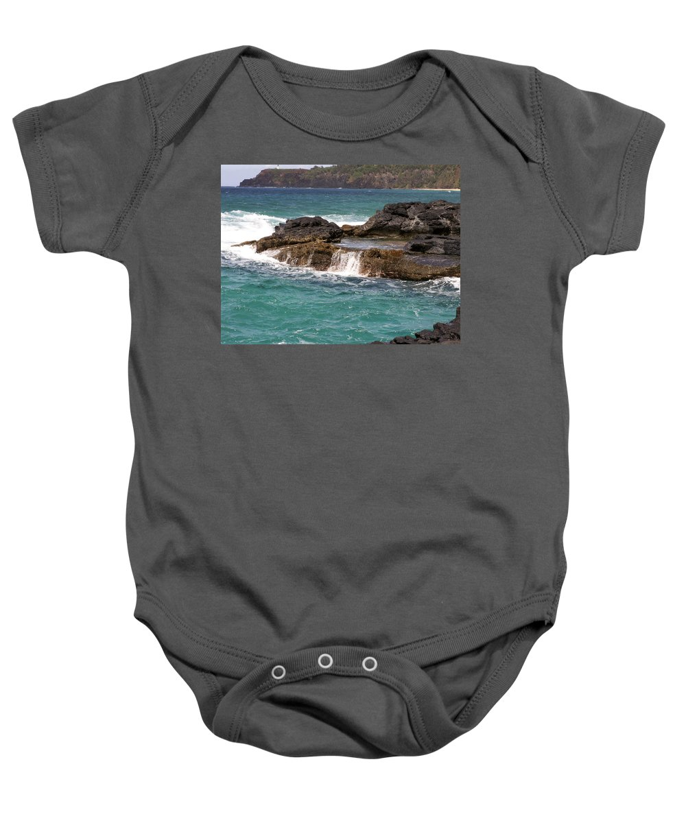 Beach Baby Onesie featuring the photograph Secret Beach by Amy Fose