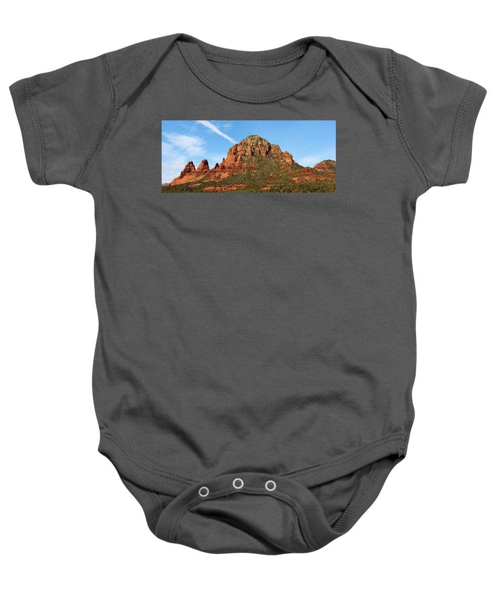 Landscape Baby Onesie featuring the photograph Sedona Rocks Hbn2 by Edward Dobosh