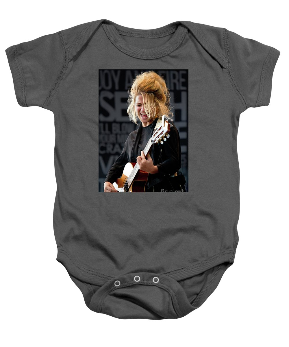 Selah Baby Onesie featuring the photograph Selah Sue - 001 by Olivier Parent