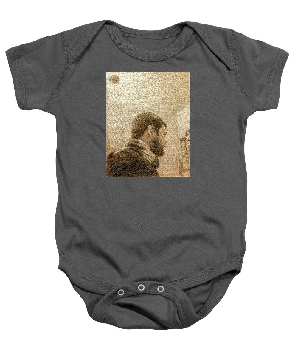 Baby Onesie featuring the painting Self by Joe Velez