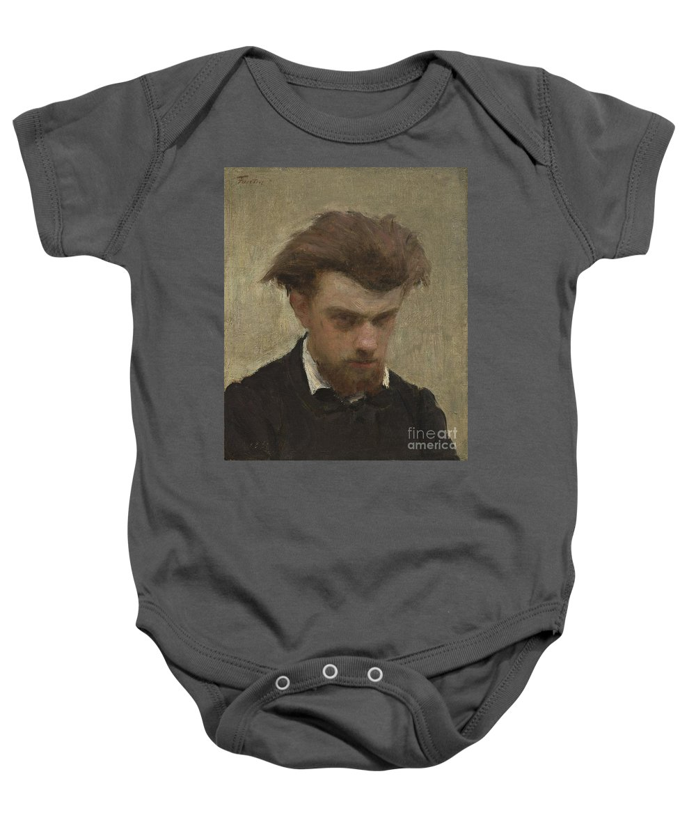 Baby Onesie featuring the painting Self-portrait by Henri Fantin-latour