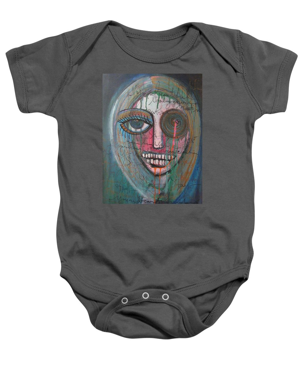 Self Portraits Baby Onesie featuring the painting Self Portrait Youre Beautiful by Laurie Maves ART